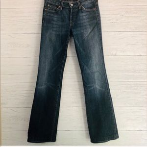 7 For All Mankind Buttonfly Boy cut Blue Jeans-27